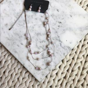 5 for $25 SALE Multi Strand Pearl Stone Necklace